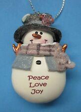 z Peace love joy Snowman Ornament Christmas