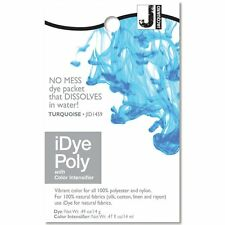 iDye POLY Turquoise - For Polyester & Nylon Fabrics-  No Mess Packets 14g NEW