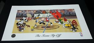 LOONEY TUNES NBA ' TIP - OFF ' LTD EDITION LITHO ROBERT MCKINSON ANIMATOR JORDAN