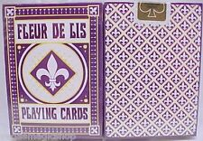 Fleur De Lis Purple Deck Playing Cards Poker Size USPCC Limited Edition Sealed