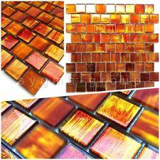 Echantillon carrelage mosaique salle de bains et cuisine drio orange