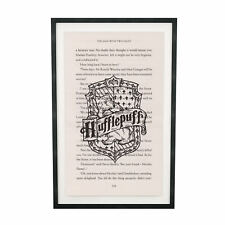 Art Print Harry Potter Hufflepuff Print on Book Page from Philosopher's Stone