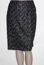 NEW Jones New York Plus 14W Silver/Black Lace Overlay Pencil Skirt