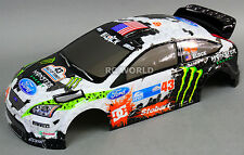 1/10 RC Car BODY Shell FORD FOCUS Rally KEN BLOCK Monster 190mm *FINISHED*
