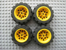 LEGO Technic WHEEL LOT 20x30 size 4 pcs YELLOW RIMS Racecar