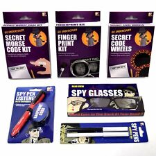 Spy Toy Set - Spy Pen, Spy Glasses, Spy Pen Listener, Fingerprint Kit and More!