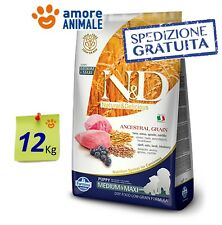 Farmina N&D Low Grain Dog Puppy Medium Maxi Agnello e Mirtillo 12 kg - per cani