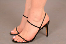 Gina Black Strappy Sandals excellent cond. UK 5