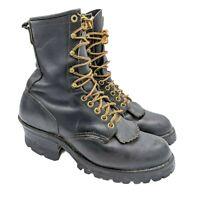 Danner Men's Logger Work Boots Size 7 D Black Vibram Sole Lace Up