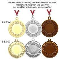 96 Medaillen (= je 32x Gold,Silber,Bronze) mit Emblem, Band, Text nur 73,95 EUR