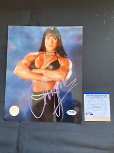 CHYNA Autographed LICENSED WWF (WWE) 8x10 Photo w/PSA DNA AUTHENTICATION