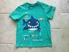 Boys green short sleeve t-shirt, 4-5, George, with whale & fish motif