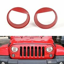Red Angry Bird Headlight Bezels For 2007-2017 Jeep Wrangler JK New Free Shipping