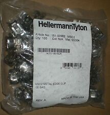 HELLERMANN TYTON 151-00982 METAL EDGE PANEL CLIP 1-3MM 5-7.6MM CABLE SS304 100PC