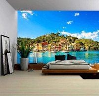 3D Italy Seaside Village Landscape Wall Murals Wallpaper Photo Painting Decor