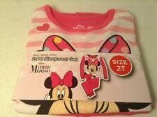 Minnie Mouse Girls Disney Pajamas Nightwear 2T 2 Peice Cotton Snug Fit Long