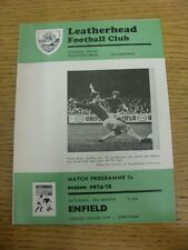 15/03/1975 London Senior Cup Semi-Final: Leatherhead v Enfield  (Neat Team Chang