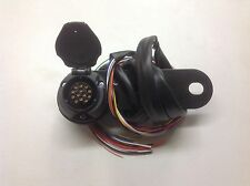13 pin Pre wired Euro type socket for trailer/caravans/towing 2 meter cable