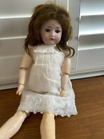 "Antique German Dressel 23"" Bisque Doll #1912-4 Jointed Compo Body"