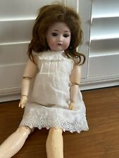 """Antique German Dressel 23"""" Bisque Doll #1912-4 Jointed Compo Body"""