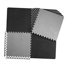 12/24/48 Tiles Gym Flooring Gym Mats Exercise Mat for Floor 6 Black and 6 Gray