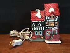 Ceramic Lighted Christmas Village Toy Shop Shoppe Building