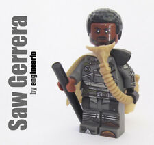 Custom Saw Gerrera Rogue One Star Wars minifigures Jyn ergo lego bricks