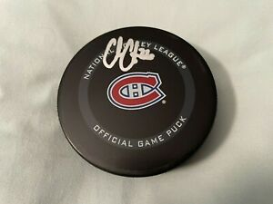 COLE CAUFIELD SIGNED MONTREAL CANADIANS OFFICIAL NHL HOCKEY PUCK FANATICS COA