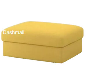IKEA VIMLE Footstool Ottoman Section COVER ONLY Yellow 203.511.34 Open Box