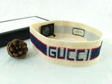 Gucci Blue Stripe Elastic Headband With Box