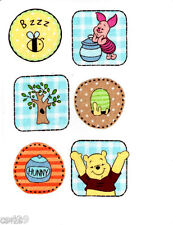 """2.5"""" DISNEY POOH PIGLET TREE HUNNY SET  CHARACTER WALL SAFE FABRIC DECAL CUT OUT"""
