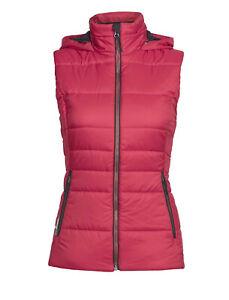 ICEBREAKER Stratus X MERINO WOOL Insulated PUFFER Ski HOODIE VEST Women size S L