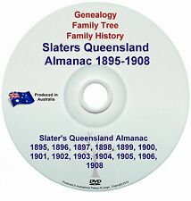 Family History Genealogy Queensland Slaters Almanac Towns Names Directory 1895