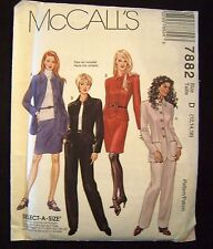 Pattern Jacket and Pants UNCUT 1995 McCall's #7882 Size 12 14 16 Retro McCalls