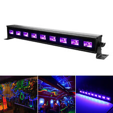 9LEDx3W Black Light Bar Metallic UV LED Bar Wall  DJ Party Club Festival Decor