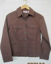 BILL BASS JEANSWEAR SIZE PS BROWN COTTON BUTTON POCKET JACKET SIDE SLITS NWT