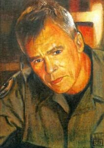 ACEO original SKETCH CARD • • Jack O'Neill • • SG1 • drawing/painting
