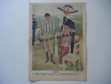 ORIGINAL Blatt aus der Zeitschrift JUGEND 1911 Paul Rieth - Erich Wilke (B282)