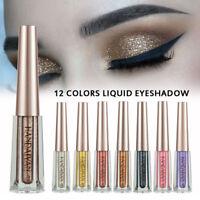 12 Colors Shimmer Eyeshadow Cream Long Lasting Liquid Glitter Eye Shadow Make Up