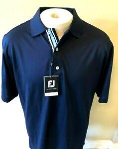 Footjoy Navy Golf Polo Shirt Mens  XL