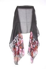 Black Red Pink Floral & Leopard Print Stylish Suitable For Party Scarf (s40)