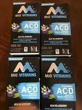 MiO Vitamins Acai Blueberry On The Go Drink Sticks Mix 5 Count Each Pack of 4