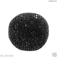 Natural Pave 5.20ct Black Diamond Cocktail Ring 925 Sterling Silver Fine Jewelry