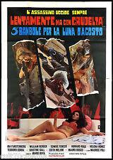 5 BAMBOLE PER LA LUNA D'AGOSTO (B) MANIFESTO CINEMA BAVA THRILLER 1975 POSTER 4F