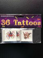 New!! Halloween Tattoos In Sealed Package 36 Temporary Tattoos Never Opened!