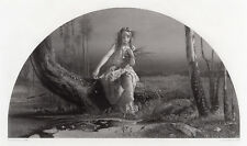 """Alluring 1800s Arthur Hughes Engraving """"Ophelia by the River"""" SIGNED Framed COA"""