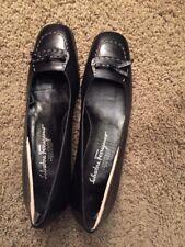 Salvatore Ferragamo Black Women Pumps Heels Shoes Size 8 AAAA Italy GUYA