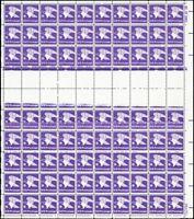 1818, Full Sheet With Two Almost Blank Rows Eye Catching ERROR - Stuart Katz