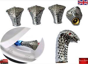 Cobra Snake Alloy Car Wheel Tire Tyre Valve Dust Caps Covers Tire Set of 4 UK