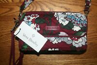 Vera Bradley Iconic RFID All In One Crossbody Bordeaux Blooms wallet NEW